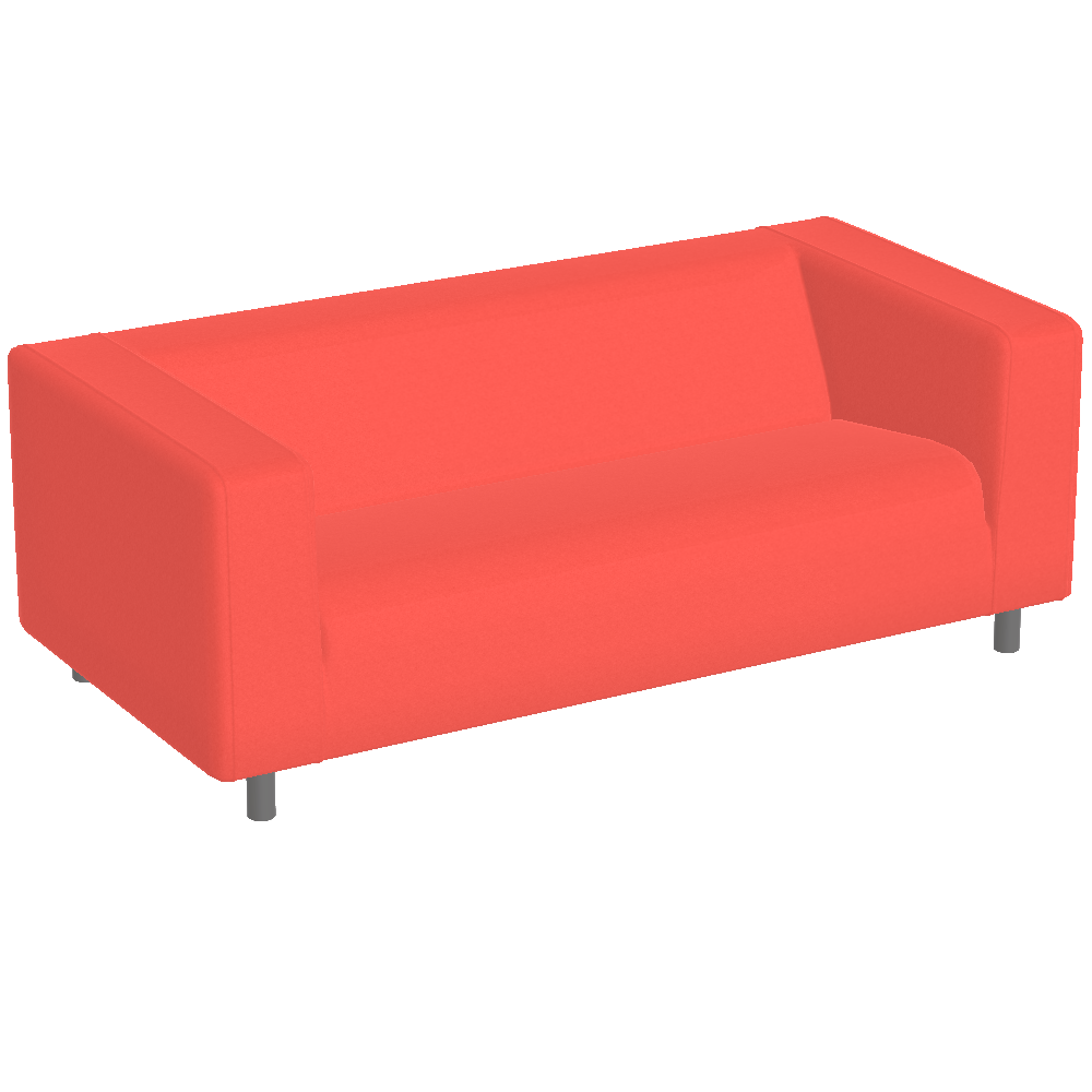free try out of klippan sofa red from ikea in 3d vr and ar. Black Bedroom Furniture Sets. Home Design Ideas