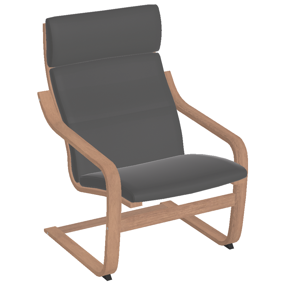 Free try out of po ng armchair from ikea in 3d vr and ar - Chairs similar to poang ...